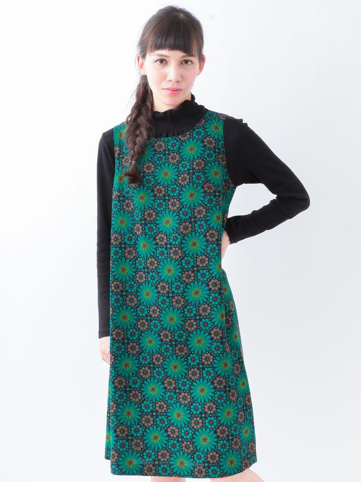 Stained Glass Geometric Flower Sleeveless Dress   Jocomomola de Sybilla   Itokin fashion mail order site