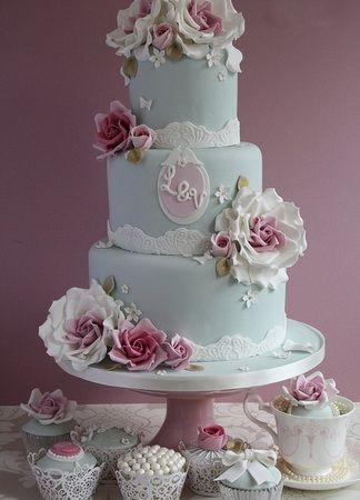 bolo azul e rosa - Pesquisa Google