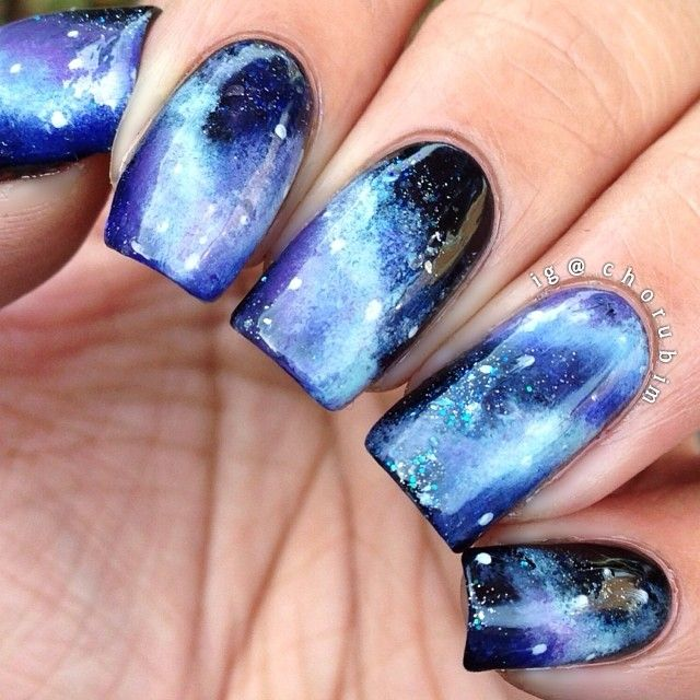 chorubim- galaxy nails will never get old.