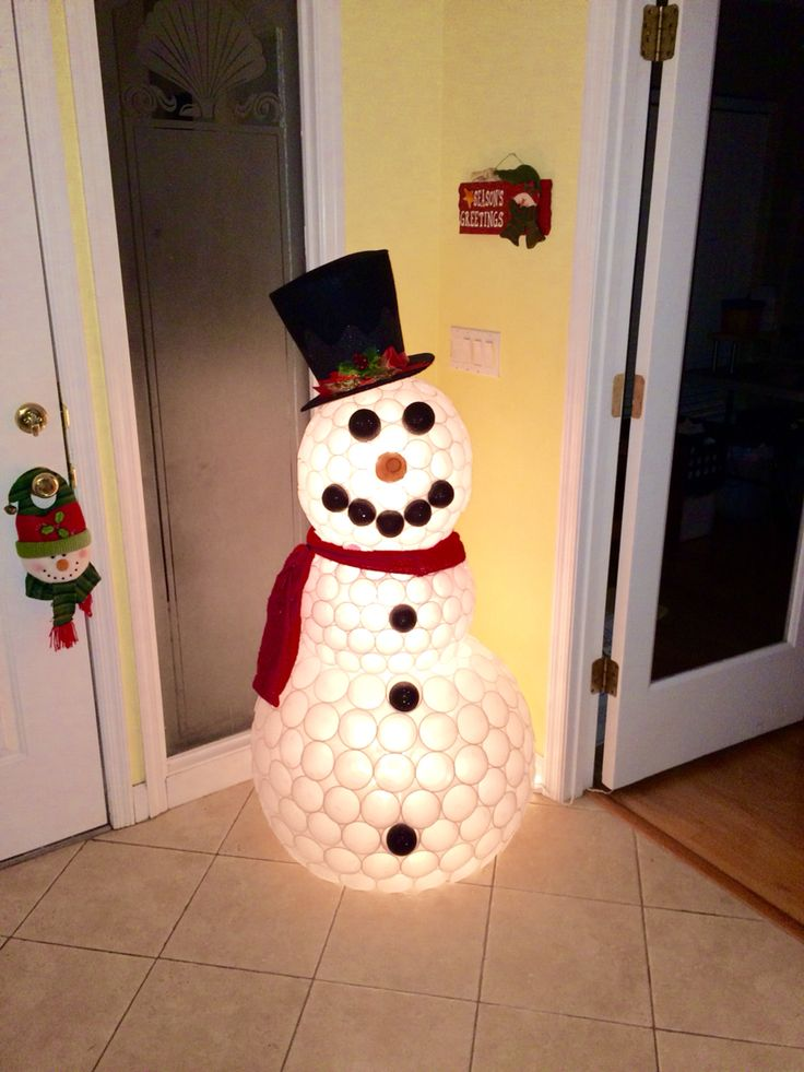 25 best ideas about plastic cup snowman on pinterest for Plastic snowman