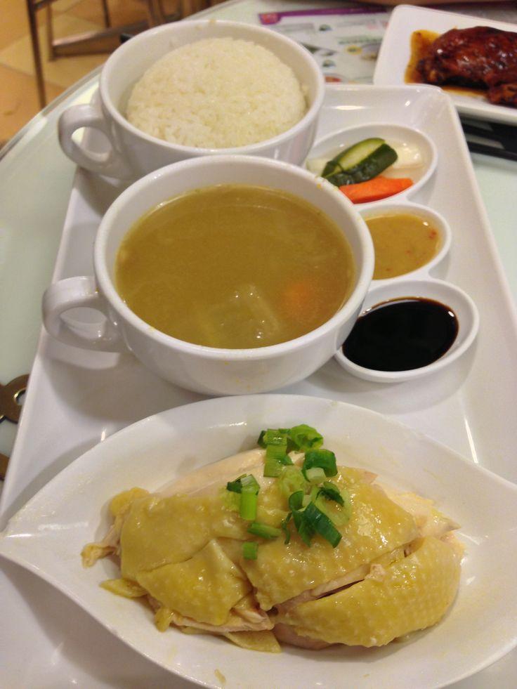 Hongkong hainanese chicken rice