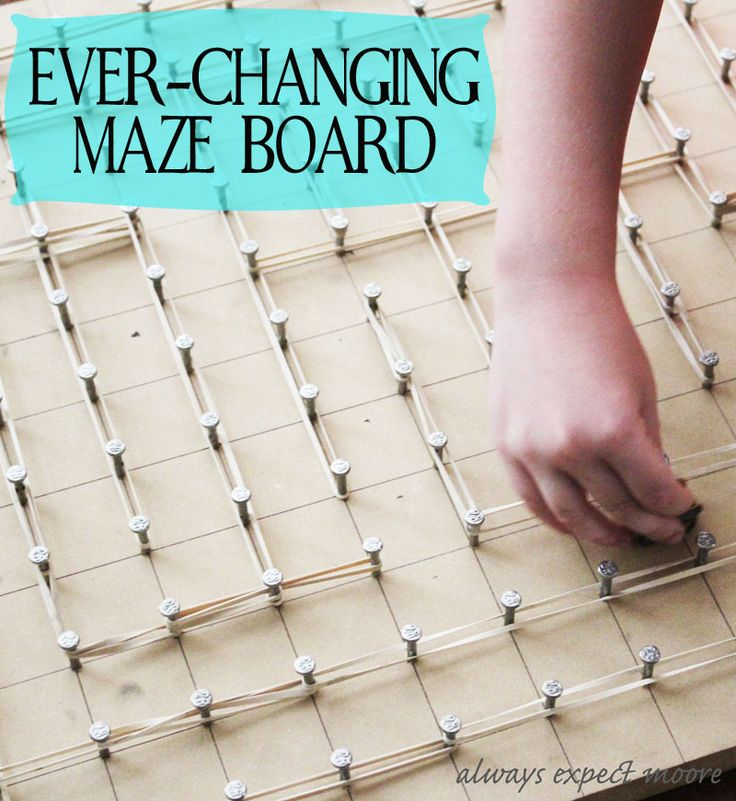 Ever-changing Wood, Nail, and Rubber Band Maze - Always Expect Moore