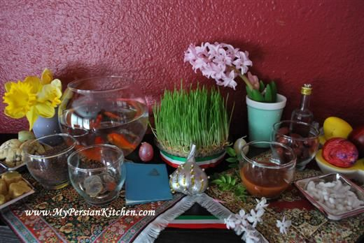 """""""Sofreh Haft Seen ~ The 7 """"S"""" of Norouz Spread"""" by MY PERSIAN KITCHEN"""