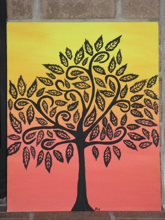 Original Acrylic Tree Painting by GinnArt by GinnArt on Etsy, $90.00