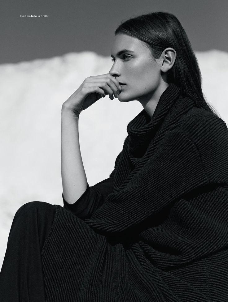rene linjer: fia ljungstrom by hordur ingason for elle norway january 2015