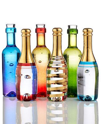 Kosta Boda Gifts, Celebrate Champagne and Wine Bottles Collection