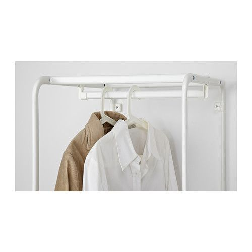 Algot Frame With Clothes Rail White Home Hanging