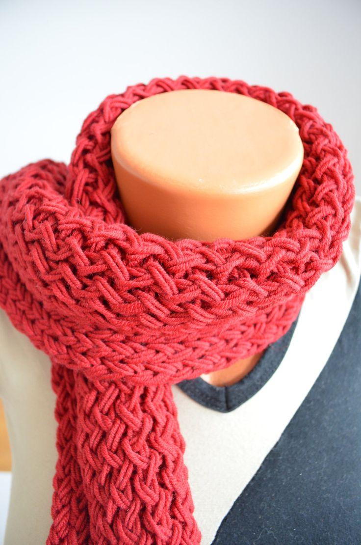 Sciarpa per bambini in pura lana merino, colore bordeaux di SaNaMarket su Etsy