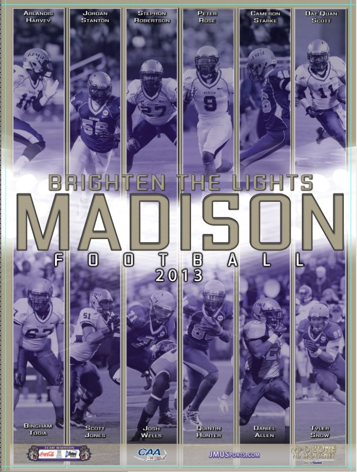 2013 JMU football senior poster! Click to download the full version.