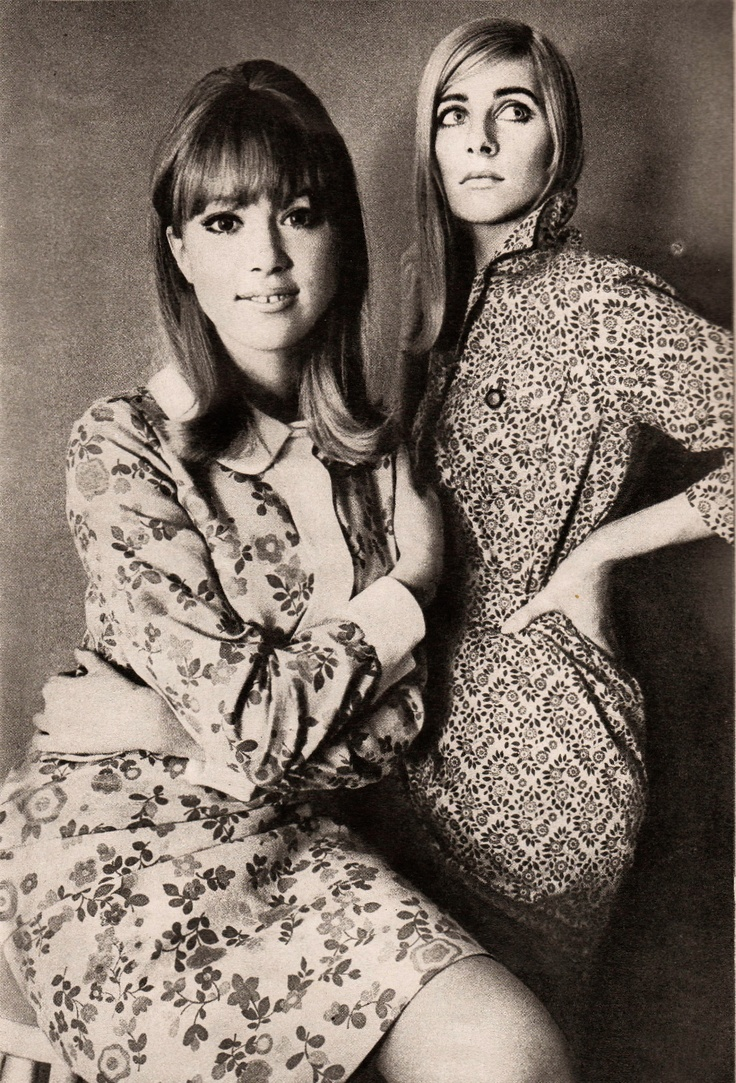Loved those clothes...Pattie Boyd & Jill Kennington-- Vanity Fair 1965