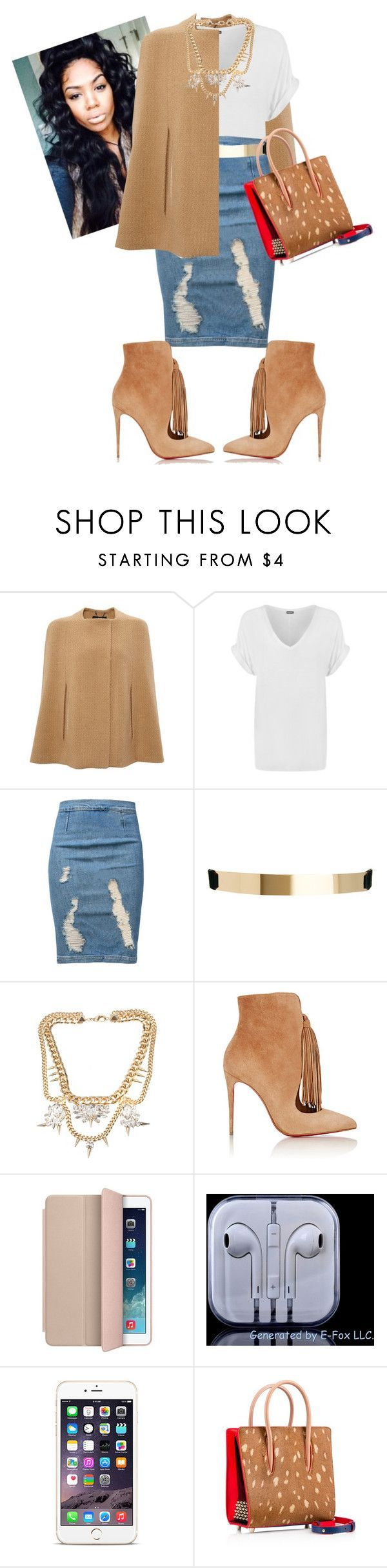 """""""State Rehersal!"""" by cogic-fashion ❤ liked on Polyvore featuring Derek Lam, WearAll, Frame Denim, ASOS, Fallon, Christian Louboutin and Apple"""