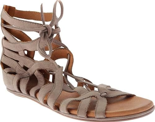 Introducing the Gentle Souls Break My Heart Gladiator Sandal. Trendy shoes  from designer Gentle Souls shown in Charcoal Nubuck. Enjoy your day wearing  these ...