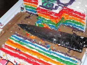 De taart voor Rachel haar 20-ste verjaardag :-)       Met een zelfgemaakte eetbare print  speciaal voor Rachel :-)     Later in de week v...