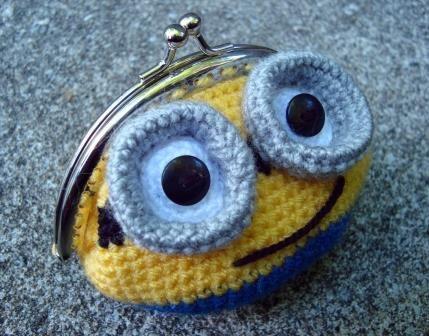 Monedero Minion (Crochet, Ganchillo)