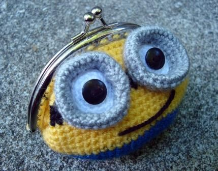 Monedero Minion (Crochet, Ganchillo)