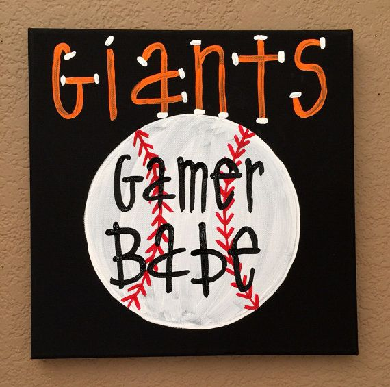 San francisco giants gamer babe canvas