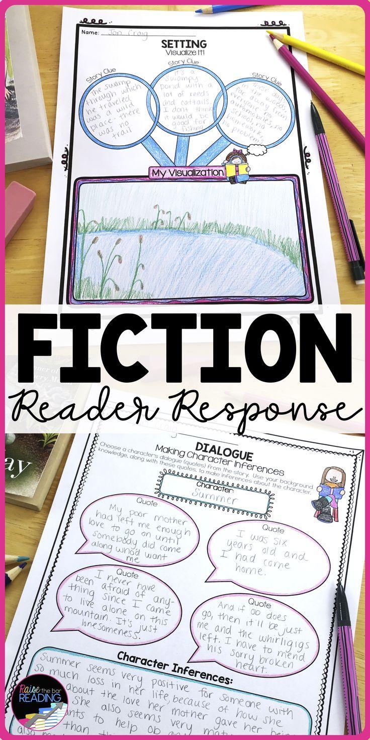 Fiction Graphic Organizers Reading Response Worksheets Distance Learning Reading Response Worksheets Reading Response Teaching Reading Comprehension