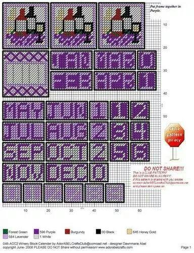 Wine cube calendar