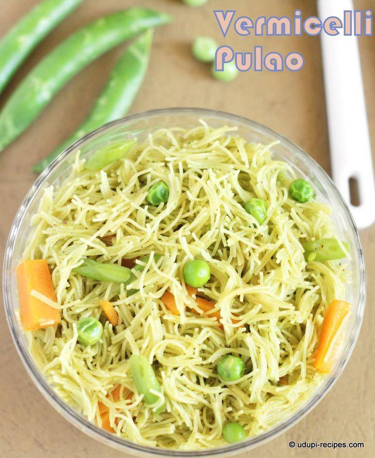 Vermicelli pulao. A twist through vermicelli in normal rice based pulao. Loaded with veggies, so better to start your day with this awesomeness
