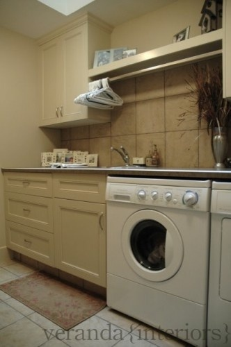 Laundry Room Shelf and Cupboards