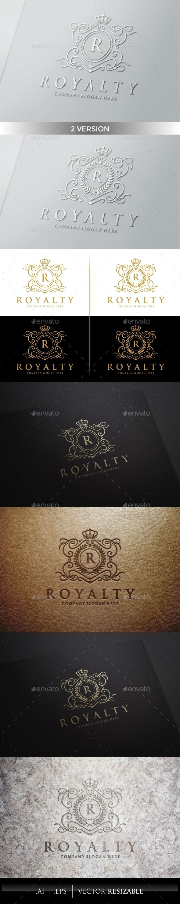 Royalty Logo Template #design #logodesign #logotype Download: http://graphicriver.net/item/royalty-logo-template/9937190?ref=ksioks