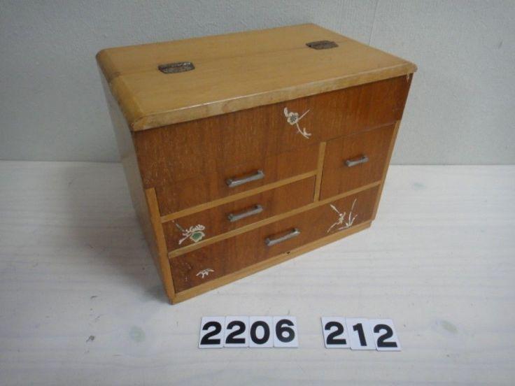 Japanese Vintage Wooden Sewing Box Japanese Tansu Drawer