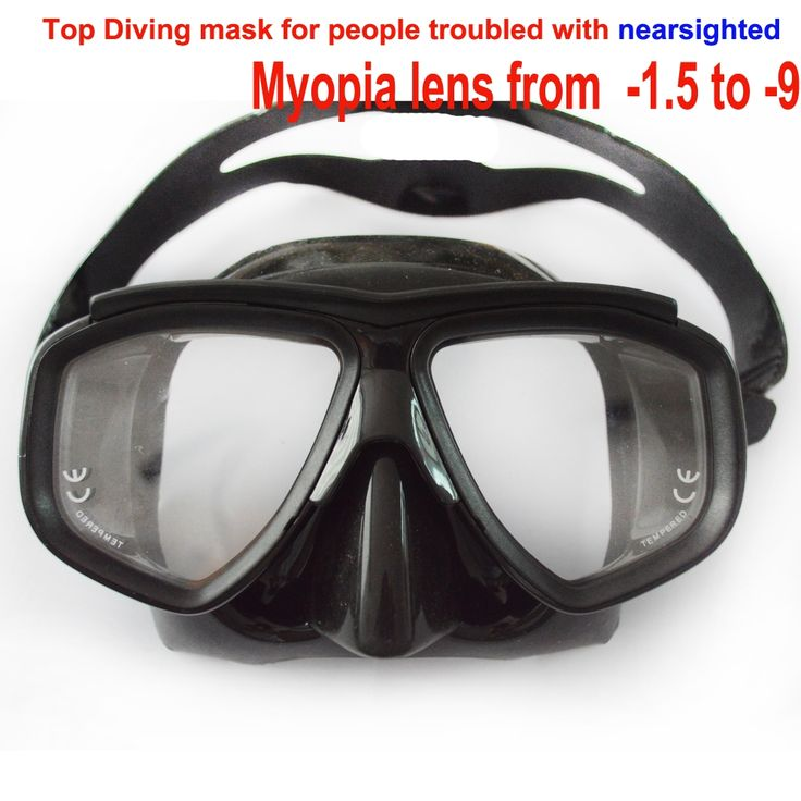 22.79$  Watch now - http://alijmj.shopchina.info/go.php?t=32688793872 - Professional tempered glass myopia lens scuba diving mask optical diving mask black silicone low profile freedive mask spearfish 22.79$ #magazineonlinebeautiful