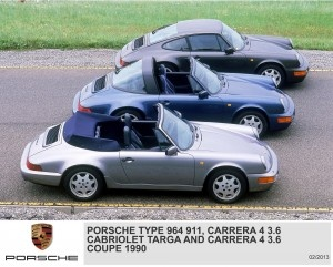 Type 964 911, Carrera 4 3.6 Cabriolet Targa, Carrera 4 3.6 Coupe