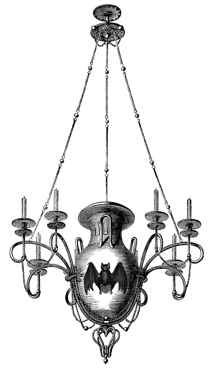 *The Graphics Fairy LLC*: Antique Images - 3 Chandeliers - 1 Spooky