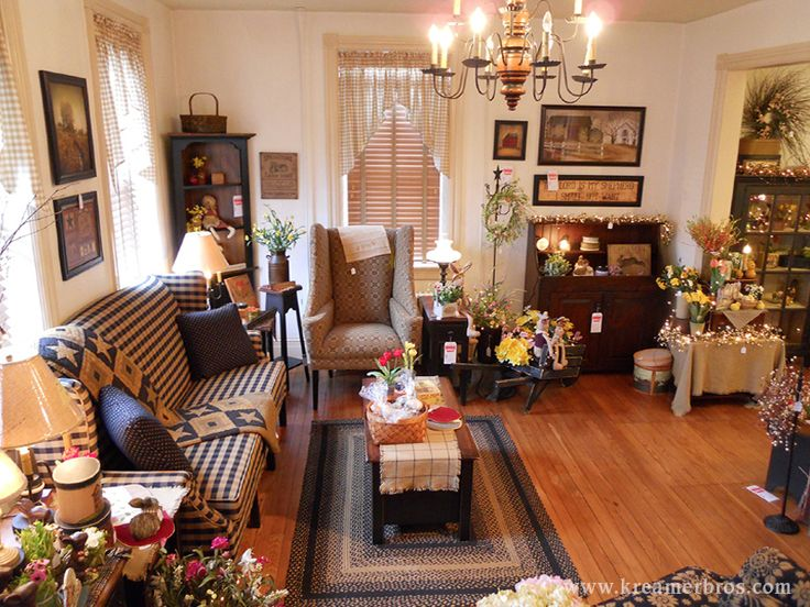 Kreamer brothers furniture country furniture annville for Primitive decorating ideas for living room