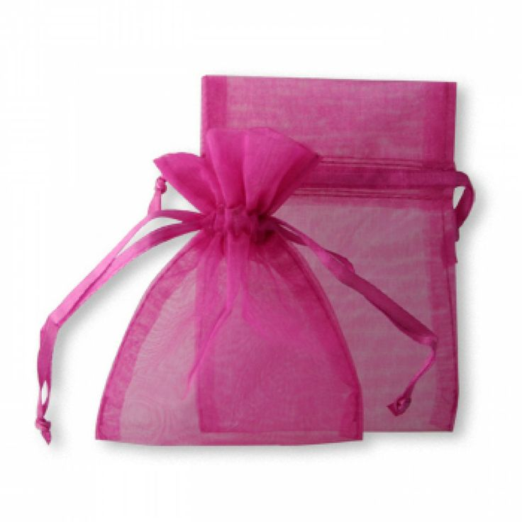 sheer organza favor bags fuchsia pink 403816