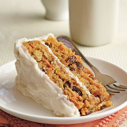 Gluten Free Carrot Cake. This deliciously moist cake is chock-full of carrots, nuts, and raisins: Carrot Cakes, Delicious Moist, Gluten Free Desserts, Free Carrots, Cooking Lights, Carrots Cake, Gluten Fre Carrots, Glutenfree, Gluten Fri Desserts