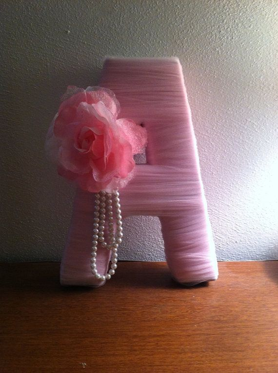 Beautiful Letter Decoration Tulle Wrapped by ButterflyEffects1