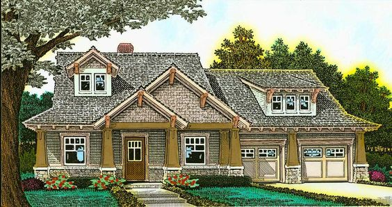 <ul><li>This beautiful Craftsman house plan, exclusive to Architectural Designs, is loaded with the kind of interior and exterior details that make this a home to be proud of.</li><li>The floor plan is well laid out with a big open great room that can be seen from the kitchen and dining area.</li><li>The two-sided fireplace warms all three spaces.</li><li>Work from home in the front-facing study nook that has built-in storage.</li><li>In the back of the home, a spacious outdoor living area…