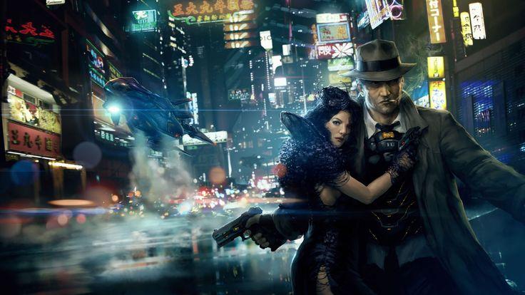 wallpaper cyberpunk metropolis robots - photo #43