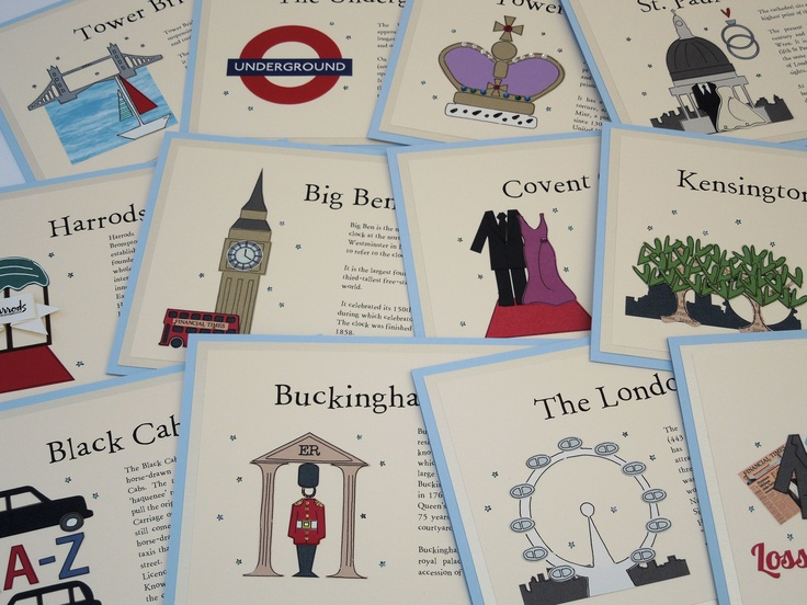 London themed table names with added blurb about that location.  www.bunnydelicious.com
