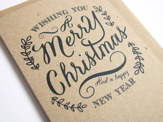 Send out your Christmas wishes in style with these Rustic winter wreath style, eco-friendly Christmas Cards. Printed in the UK on 100% recycled