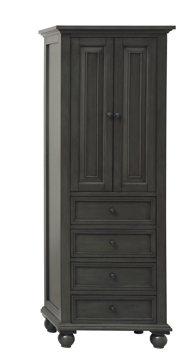 "Thompson 24"" x 68"" Freestanding Bathroom Linen Tower Cabinet"