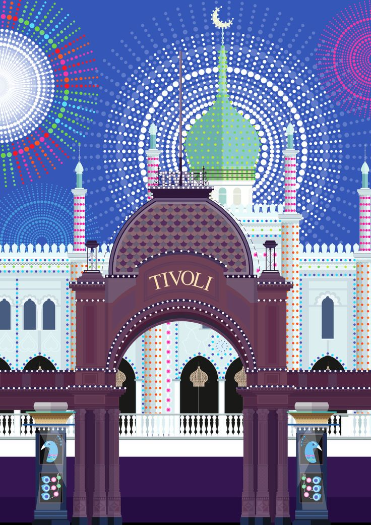 Tivoli Sparkle - illustrated one rainy Copenhagen summer by Sivellink
