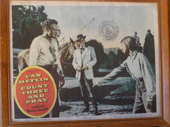 Lobby Card Count Three and Pray with Van Heflin in 1955 by parkie2, $21.95