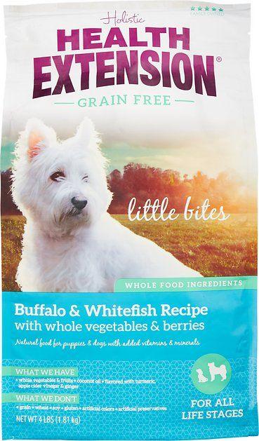 Health Extension Grain Free Little Bites Buffalo Whitefish Recipe