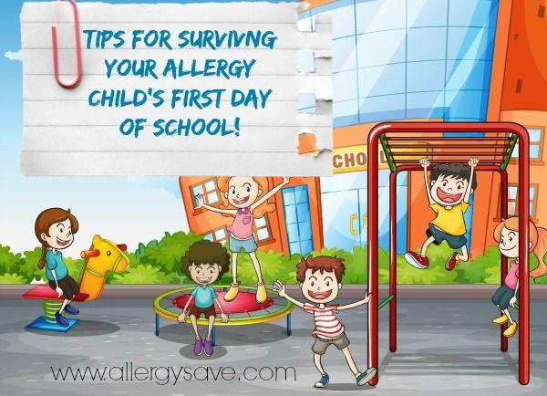 9 Tips for surviving your allergy child's first day of school