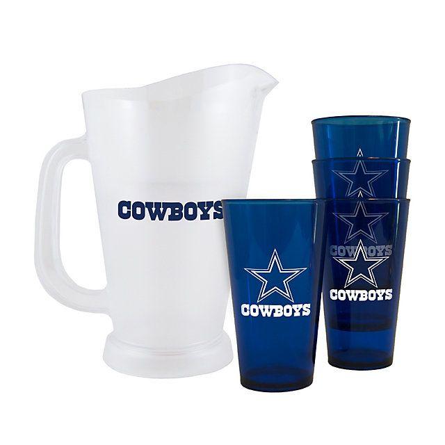 NFL Dallas Cowboys Plastic Pitcher Set