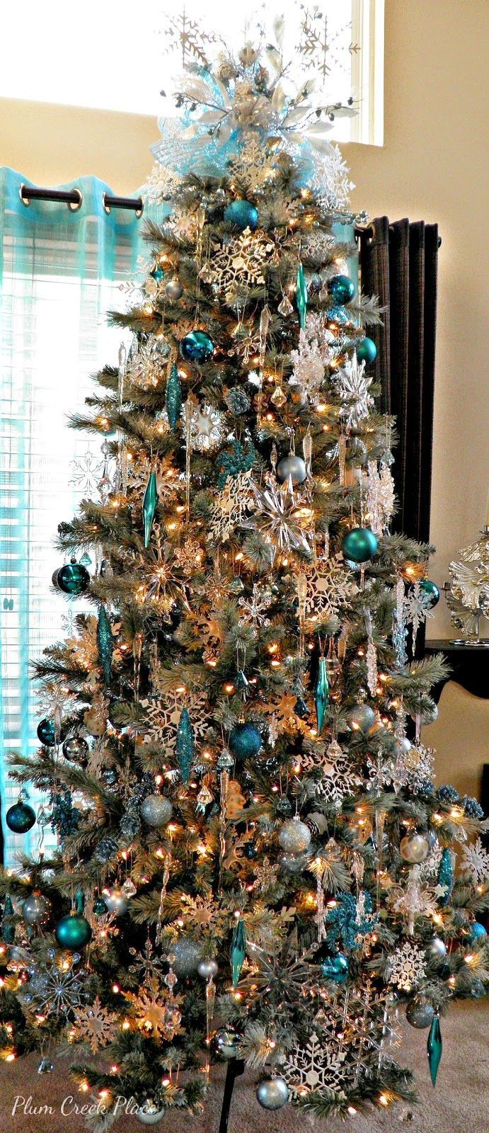 Non traditional christmas tree ideas - Blue And Silver Christmas Trees Stay At Home Mum