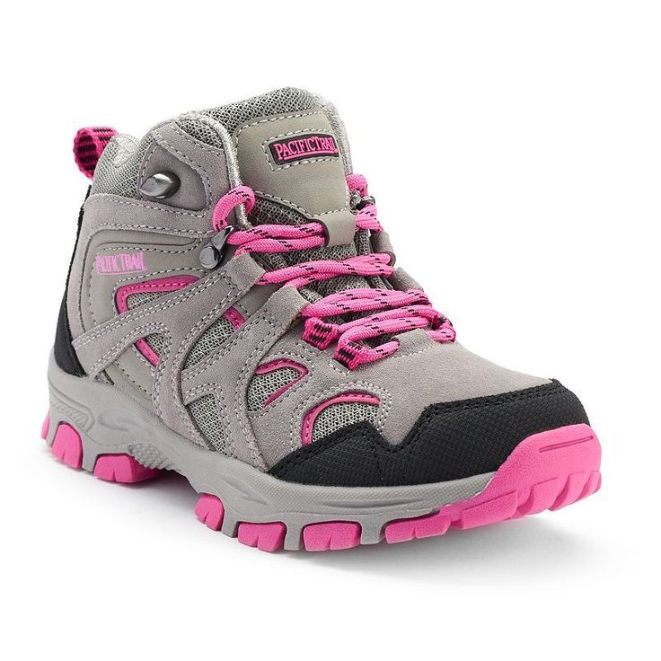 Pacific Trail Diller Light Girls' Hiking Boots, Girl's, Size: 10 T, Light Grey