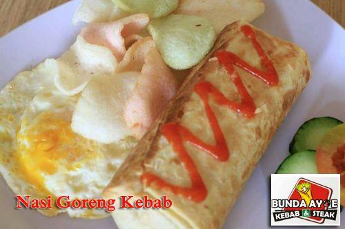 Nasi Goreng Kebab - Kedai Bunda Ayoe Kebab & Steak, Jl. Nogososro No. 51 Tlogosari Semarang. #KedaiBundaAyoe #NasiGorengKebab #KulinerSemarang