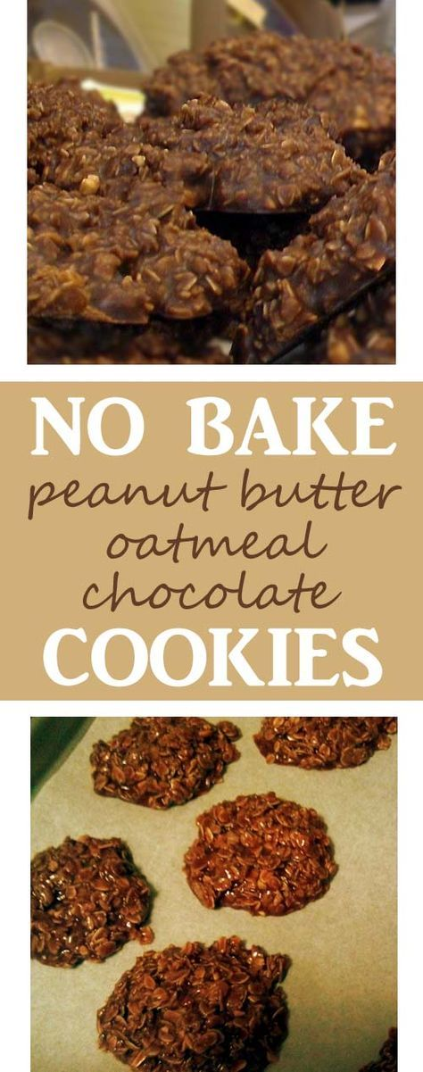 No Bake Chocolate, Peanut Butter and Oatmeal Cookies Because Health and Love for Chocolate