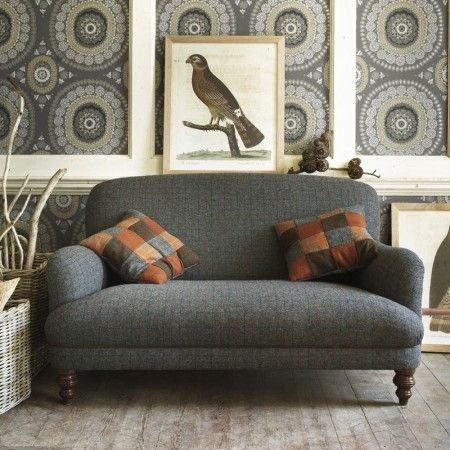 Braemar 2 Seater Sofa In Winter Check   Braemar Collection   Sofa  Collections   Furniture