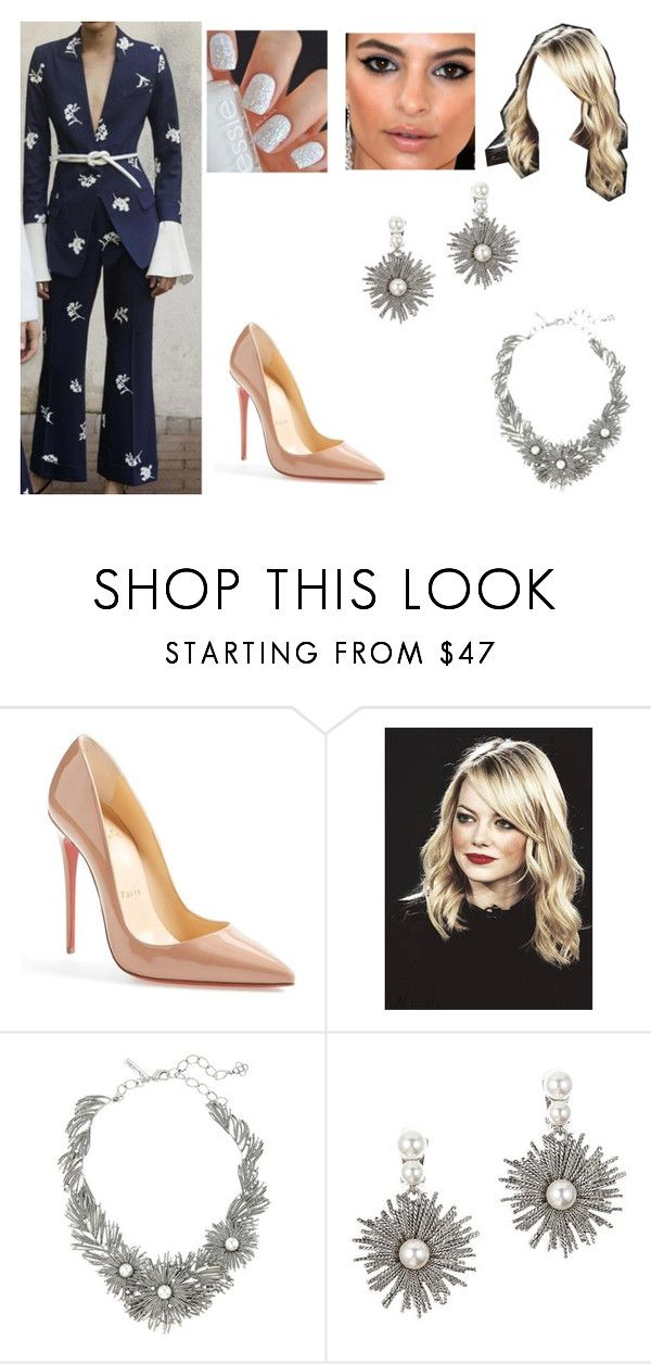 """Warner Music Group Hosts Pre-Grammy Celebration"" by rachel2494 ❤ liked on Polyvore featuring Carolina Herrera, Christian Louboutin, GALA and Oscar de la Renta"