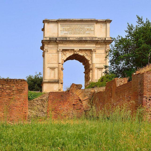 Rome roman Forum: Arco di Tito / Arch of Titus Lazio Italy